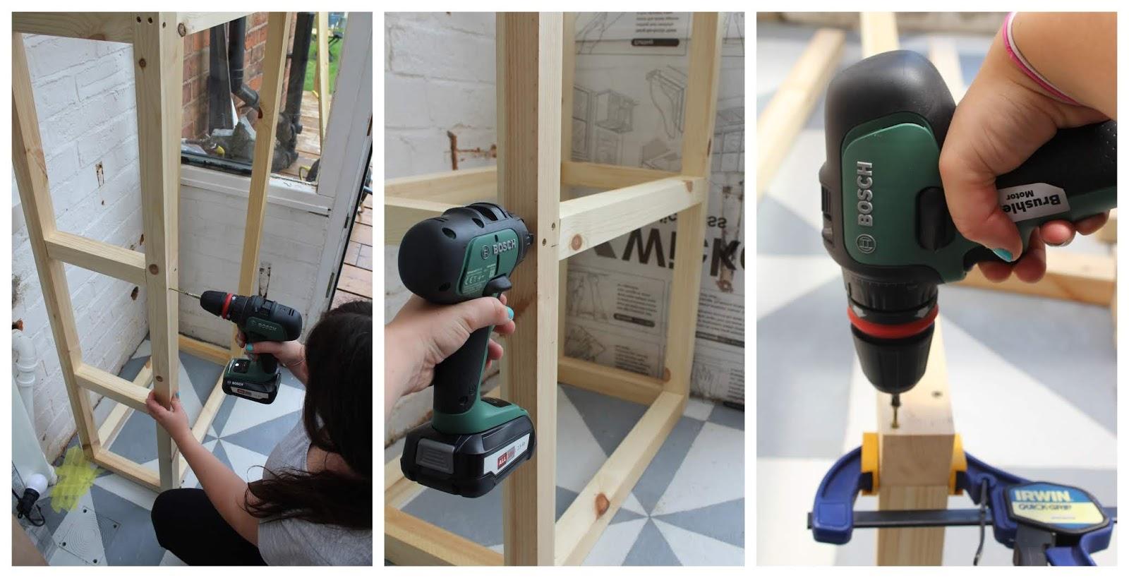 DIY House Shelving Unit