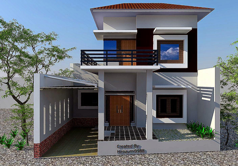 69 Desain Rumah Minimalis Garasi 2 Mobil Desain Rumah Minimalis Terbaru