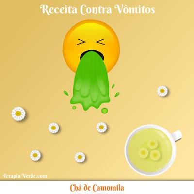 Receita Contra Vômitos: Chá de Camomila