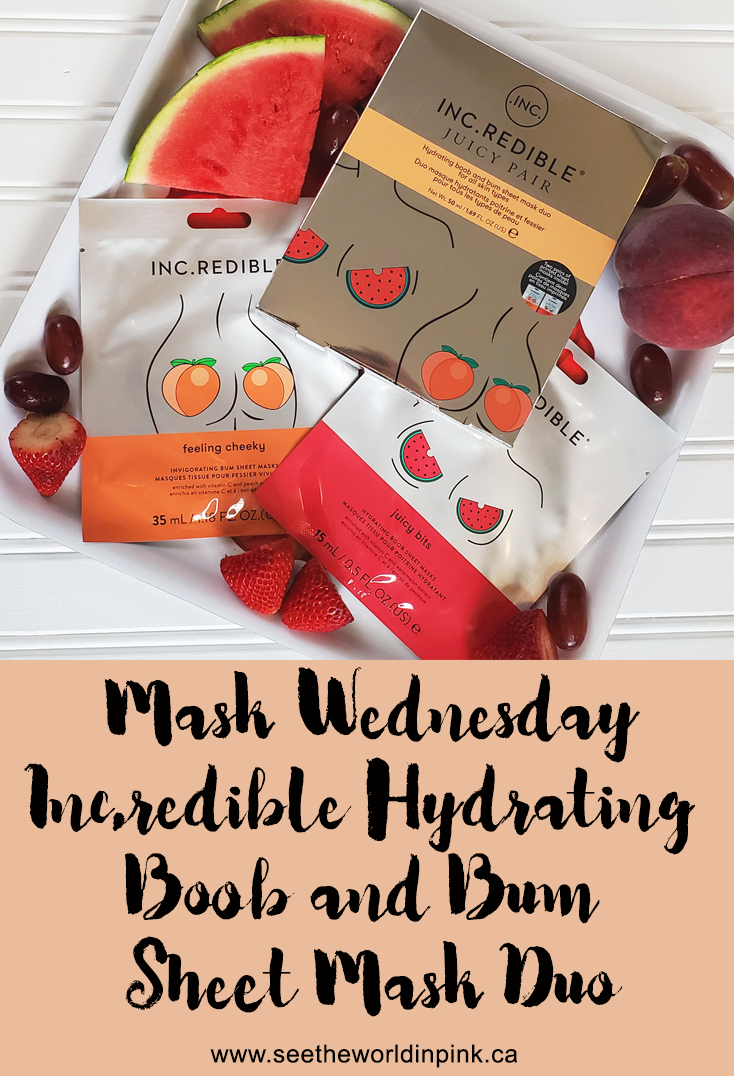 Mask Wednesday - Inc.redible Hydrating Boob (Juicy Bits) and Bum (Feeling Cheeky) Sheet Mask Duo
