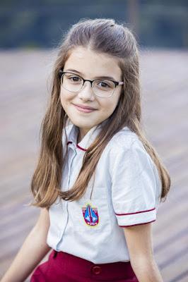 Valentina Vieira será Sofia, filha de Nana e xodó do vovô Alberto — Foto: Globo / Victor Pollak
