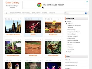 Gator Gallery Blogger Template