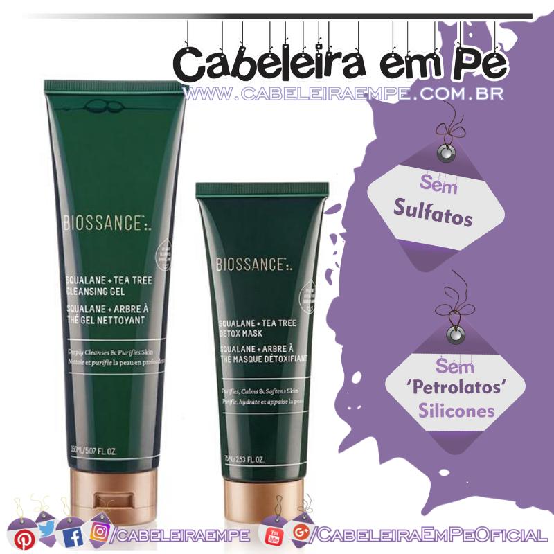 Gel De Limpeza e Máscara Detox Tea Tree Com Esqualano - Biossance
