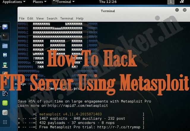 hacking ftp server using kali linux