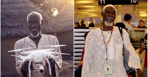 Ghanaian Villager's Hajj Wish is Fulfilled After He Asks if a Drone Can Take Him to Makkah