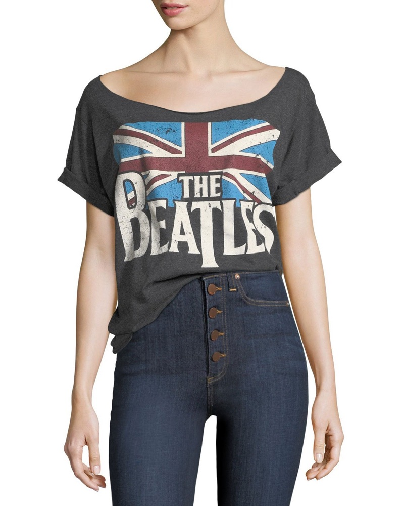 AO.LA 'The Beatles' Boat-Neck Short-Sleeve Tee