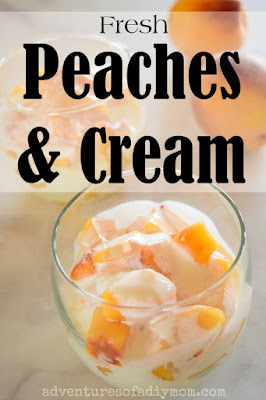 Fresh Peaches and Cream
