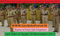 Police Housing Corporation Limited Recruitment 2017– 16 Sub Engineer