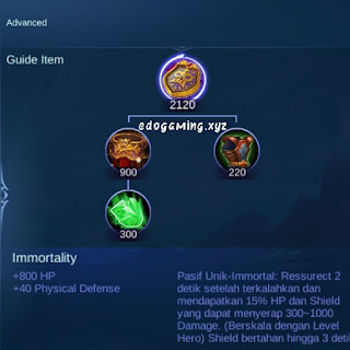penjelasan lengkap item mobile legends item immortality