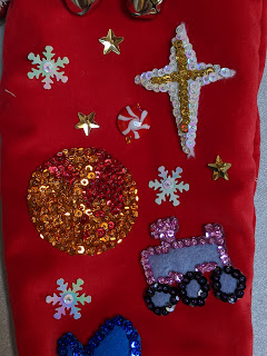Sequined Mars and Perseverance rover adorn the stocking