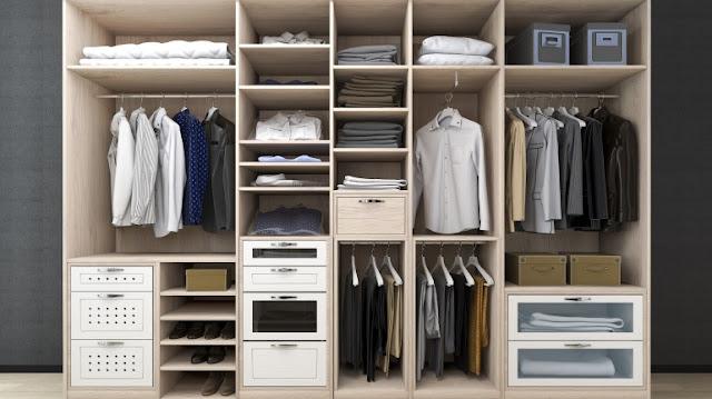 Lemari baju atau lemari pakaian merupakan tempat dimana Anda menyimpan pakaian atau baju baik dengan cara digantungkan dengan bantual hanger atau bisa juga disesuaikan dengan model pakaian, yakni dengan cara dilipat.
