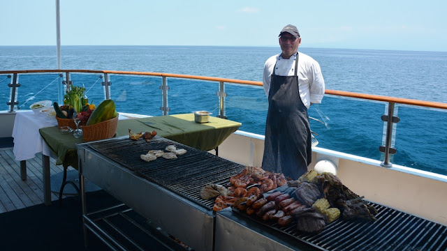 Celebrity Expedition barbeque