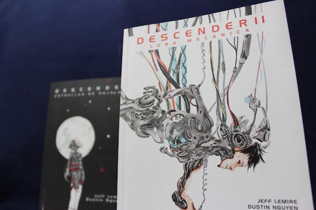 Jeff Lemire junto con Dustin Nguyen crearon la novela gráfica Descender II Luna Mecánica