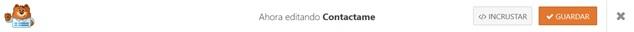 Incrustar formulario de contacto en WordPress