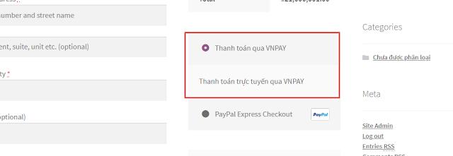 Trong quá trình thanh toán, Khách hàng có thể chọn Thanh toán qua VNPAY
