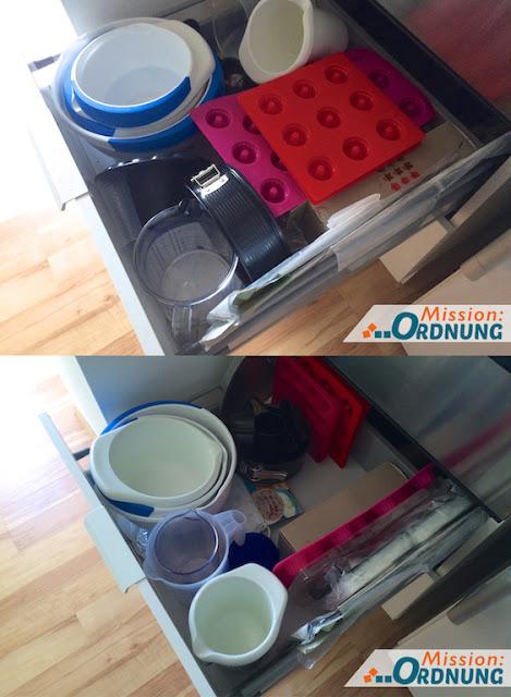 mission ordnung ordnung in der k che schublade f r backzeug. Black Bedroom Furniture Sets. Home Design Ideas