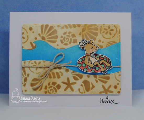 Relax by Debbie features Floaty Goat, Seashells, Land Borders and Sea Borders by Newton's Nook Designs; #newtonsnook