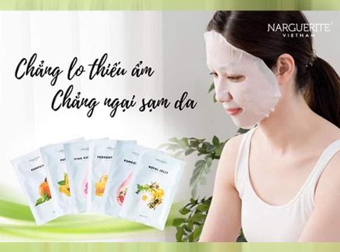 Đắp mặt nạ giấy mỗi ngày cho làn da luôn đẹp căng mọng cùng Nar