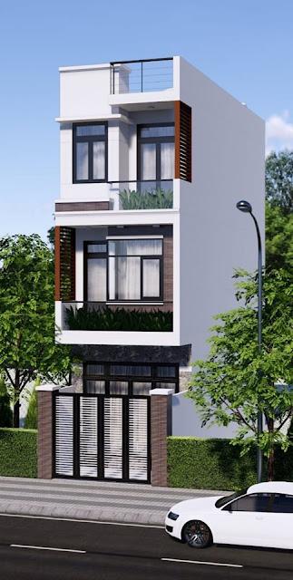 nhà phố 3 tầng bằng Revit