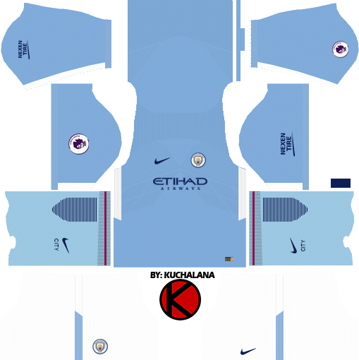 884f74cfe Manchester City Kits 2017 2018 - Dream League Soccer - Kuchalana