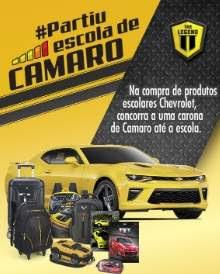 Cadastrar Promoção Partiu Escola de Camaro - Produtos Escolares Chevrolet Carona Camaro