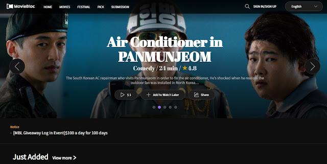 Screenshot Website MovieBloc (MBL) Cryptocurrency