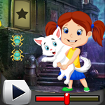 G4K Cute Little Girl And Pet Escape Game Walkthrough