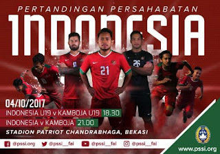 Jadwal Siaran Langsung Timnas Indonesia - Rabu 4 Oktober & Minggu 8 Oktober 2017