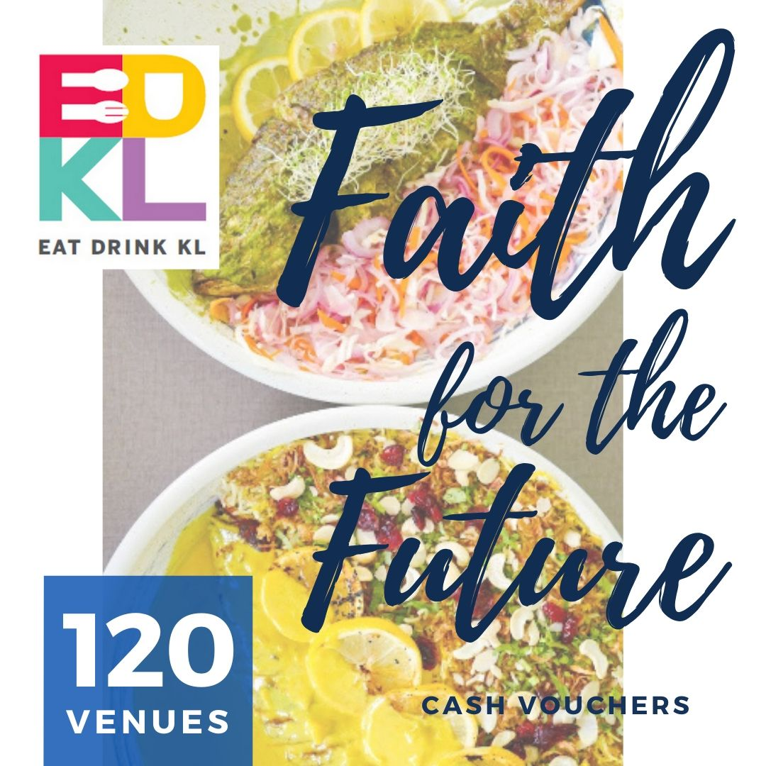 edkl faith for the future: cash vouchers at 120 restaurants & retailers