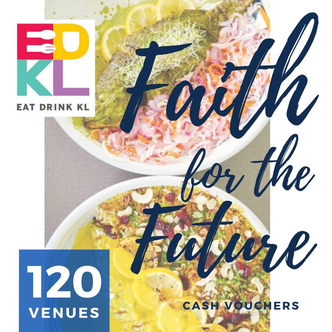EDKL Faith For The Future: Cash Vouchers at 120 Restaurants & Retailers