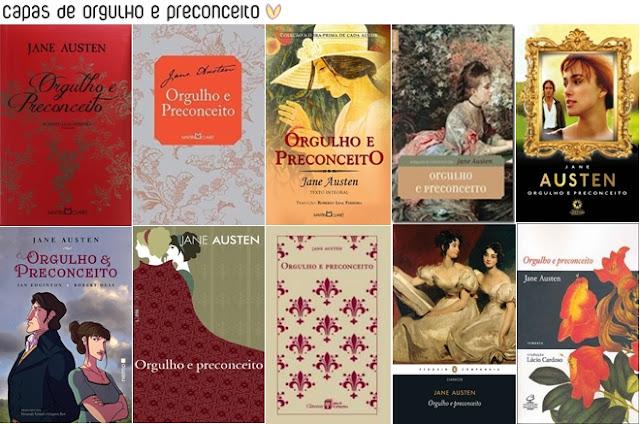 Capas dos livros de Orgulho e Preconceito, Jane Austen