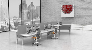 Open Concept Desk Configuration