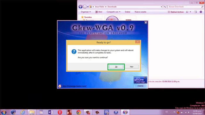 THE 7 TÉLÉCHARGER CHEW.WGA PATCH WINDOWS CRACK.EXE 0.9