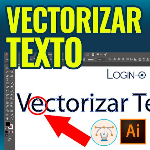 Cómo vectorizar rápido textos y fuentes en Illustrator - 2021