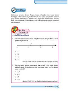 kunci jawaban matematika smp kelas 7 halaman 45