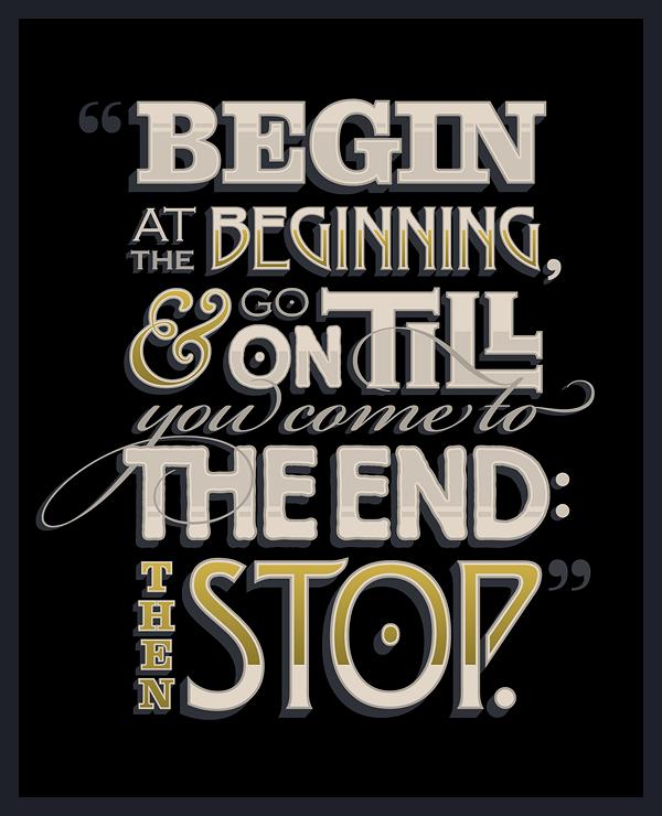 Contoh Typografi Kreatif