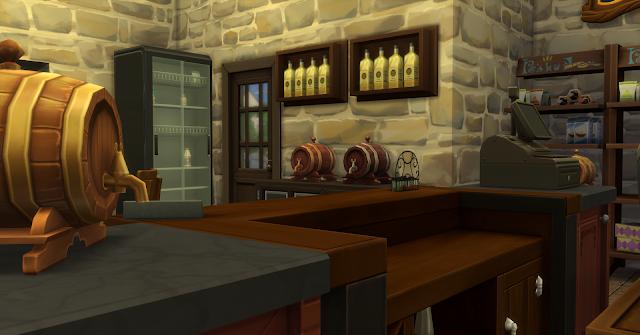 """""""Винный Погребок"""" - торговая постройка для Sims 4 со ссылкой для скачивания,"""