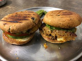 Aloo tikki burger, healthy burger