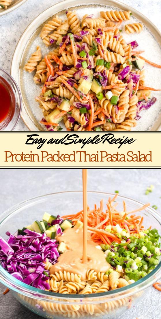 Protein Packed Thai Pasta Salad #dinnerrecipe #food #amazingrecipe #easyrecipe