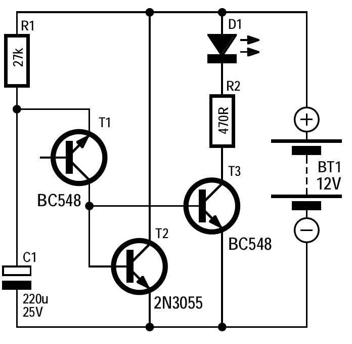 Automatic Battery Charger Circuit_circuit Diagram World