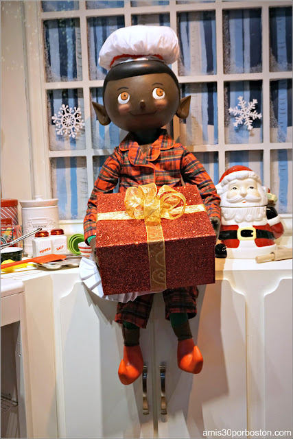 Elfo en los Escaparates de Navidad del Macy's de Boston
