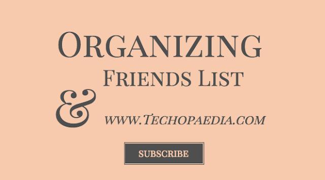 Organizing Facebook friends list