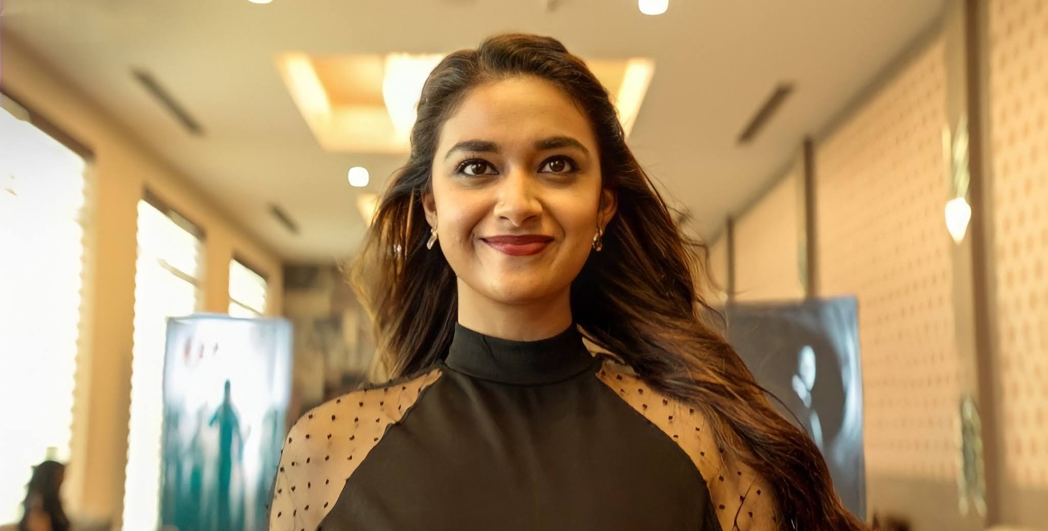 Keerthy Suresh in Black Lovely Smile from Miss India