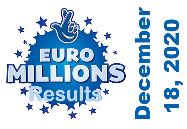 EuroMillions Results for Friday, December 18, 2020