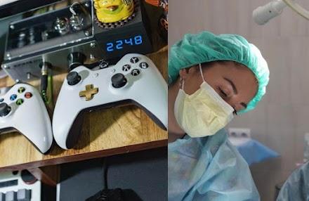 De acordo com vários estudos, jogar videogame melhora as habilidades dos cirurgiões