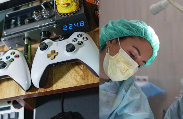 Beneficio dos vídeo games para cirurgiões