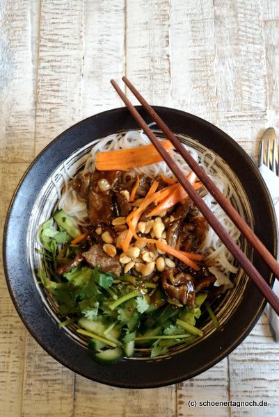 Bun Bo im Asia-Restaurant Saigon in Karlsruhe