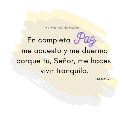 cita versiculo salmo 4 en paz me acostare