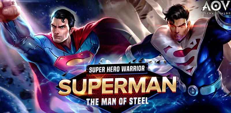 Superman Hero Baru di Garena AOV Punya Enam Jenis Skill Berbeda