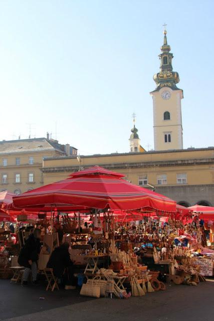 Mercado central de Zagreb, Croacia